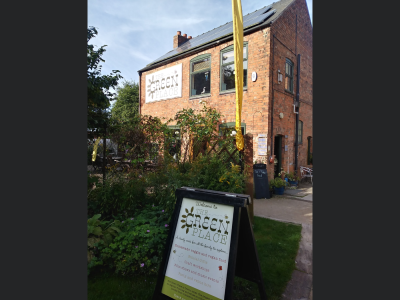 Unique dog friendly Veggie vegan cafe and hidden green oasis, Leicestershire - Driving with Dogs