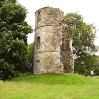 M74 junction 12 dog walk to a castle, Scotland