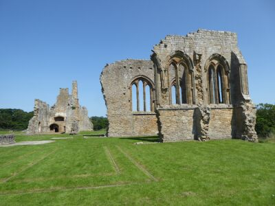 A66 Abbey ruins and dog walk near the river Tees, County Durham - Driving with Dogs