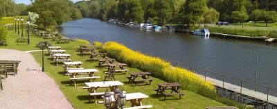 Dog-friendly riverside camping and dog-friendly pub, Worcestershire - Driving with Dogs