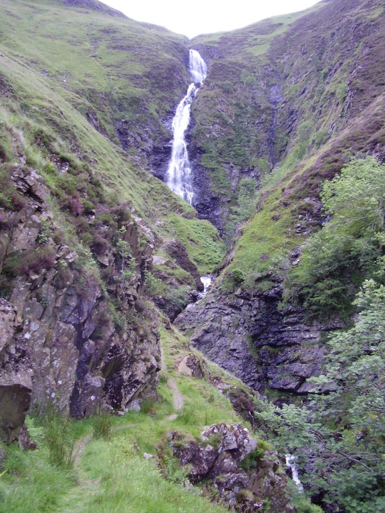 Waterfall dog walk near Moffat, Scotland - Dog walks in Scotland