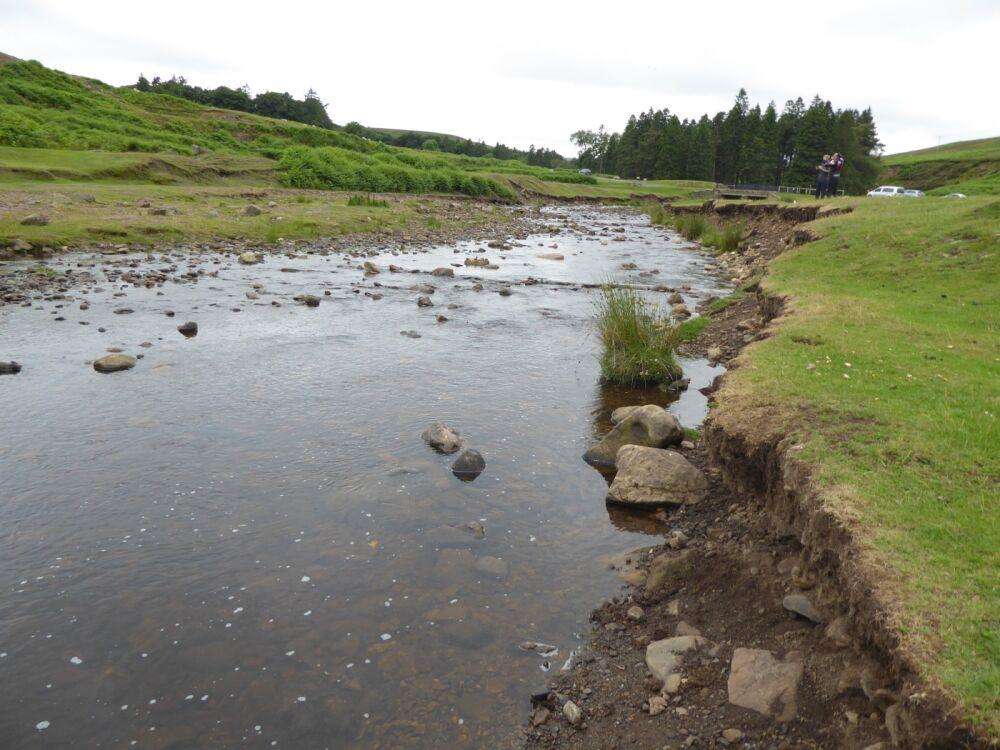 A689 Riverside parking area near Bollihope, County Durham - Pennine dog walk in County Durham
