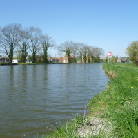 A26 exit 9 Canalside dog walk, France