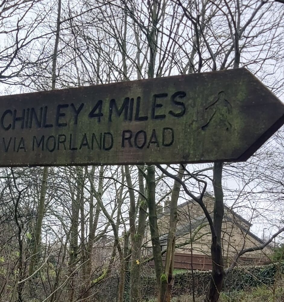 Sett Valley Trail and Moorland Road dog walk, Derbyshire - 1. Footpath, Sett Valley Chinley 4 Miles.jpg
