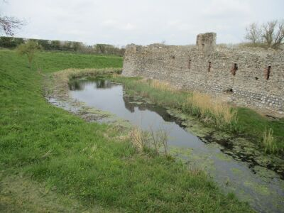 Dog-friendly Castle Ruins with a moat near Holt, Norfolk - Driving with Dogs