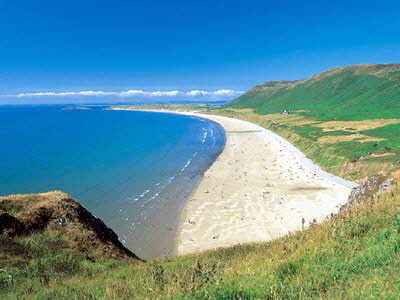 Rhossili dog-friendly beach, Gower Peninsula, Wales - Driving with Dogs
