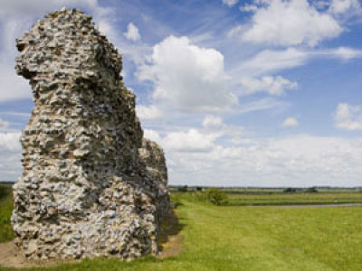 Castle ruins dog walk, Norfolk - Driving with Dogs