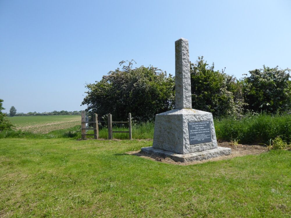 Tribute to the first pilgrims and dog walk, Lincolnshire - Lincolnshire dog walks