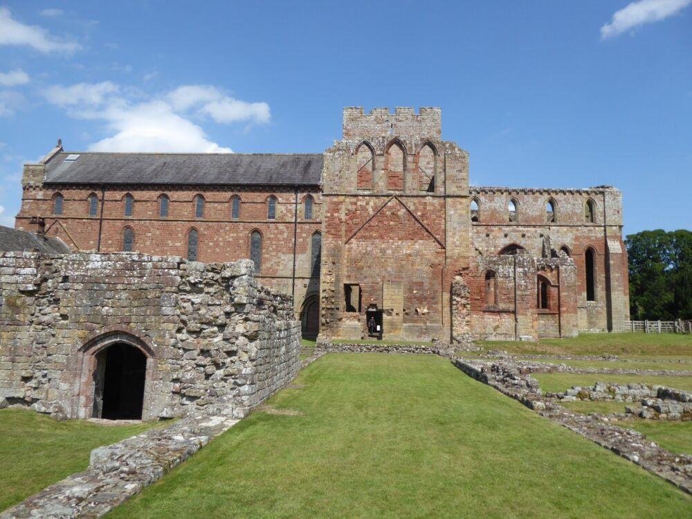 A69 Priory ruins, riverside walk and Bark & Brew cafe, Cumbria - Cumbria dog walk