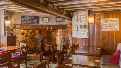A379 village pub on the river, Devon - Driving with Dogs
