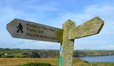 A487 dog walk and a dog-friendly pub, Wales - Driving with Dogs