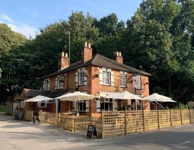 A30 doggiestop with pub and walk near Egham, Surrey - Driving with Dogs