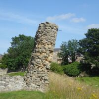 Barnard Castle dog walks and swimming beaches, County Durham - Barnard Castle wall