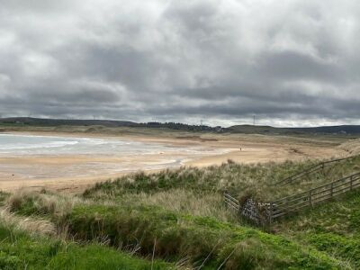 Stunning sandy beach, Scotland - Driving with Dogs